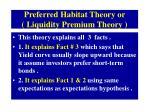 preferred habitat theory or liquidity premium theory