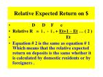 relative expected return on