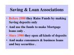 saving loan associations
