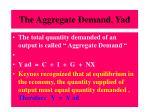 the aggregate demand yad