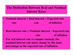 the distinction between real and nominal interest rates