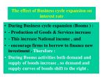 the effect of business cycle expansion on interest rate