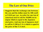 the law of one price1