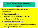 what are foreign exchange rates