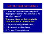 why the yield curve differ