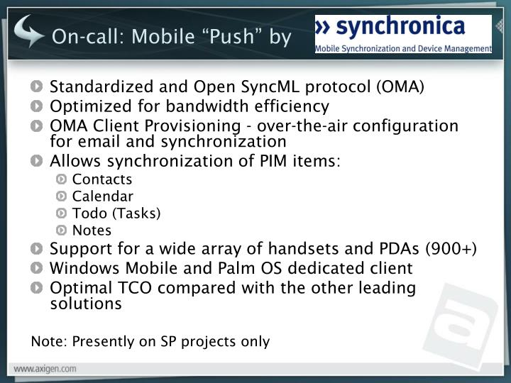 """On-call: Mobile """"Push"""" by"""
