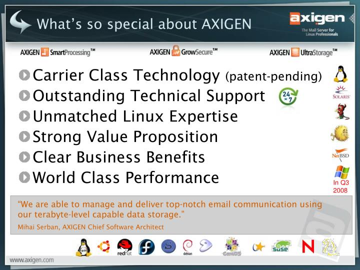 What's so special about AXIGEN