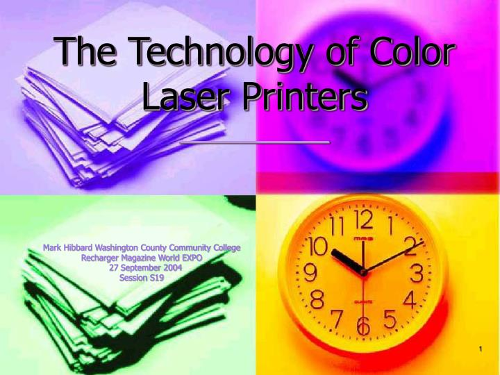 the technology of color laser printers n.