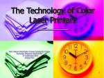 the technology of color laser printers