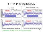 1 trk p bit inefficiency
