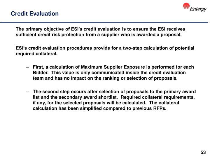 Credit Evaluation