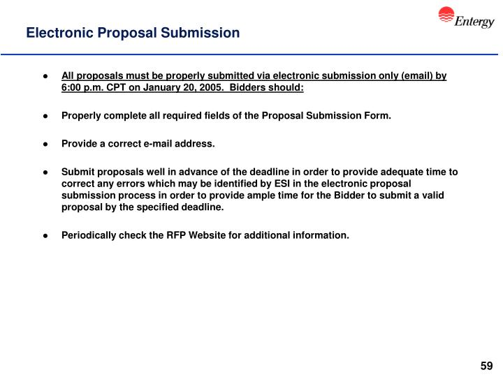 Electronic Proposal Submission