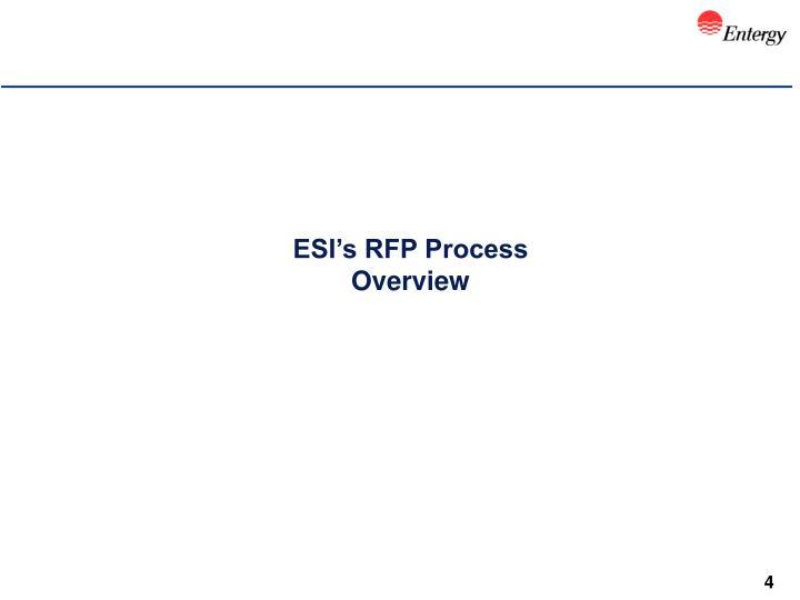 ESI's RFP Process