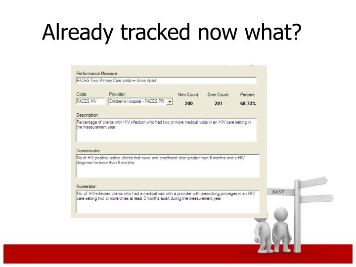 Already tracked now what?