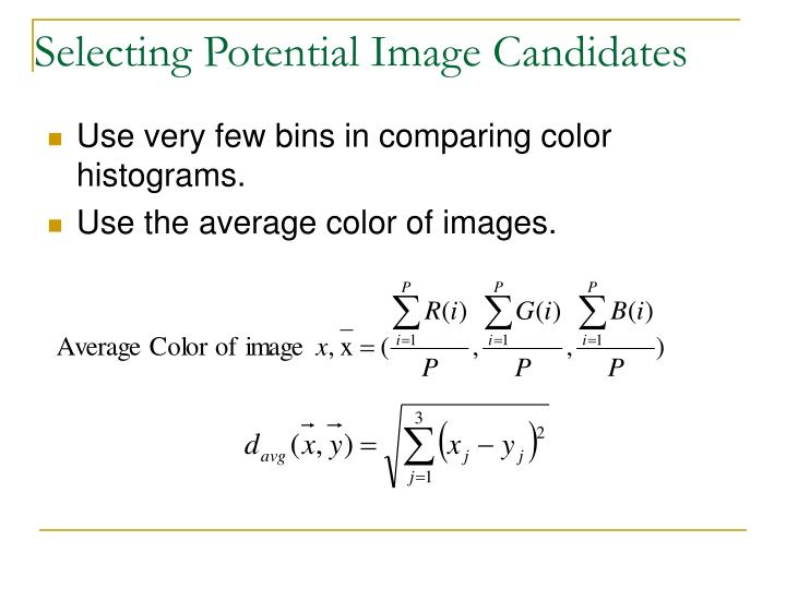 Selecting Potential Image Candidates