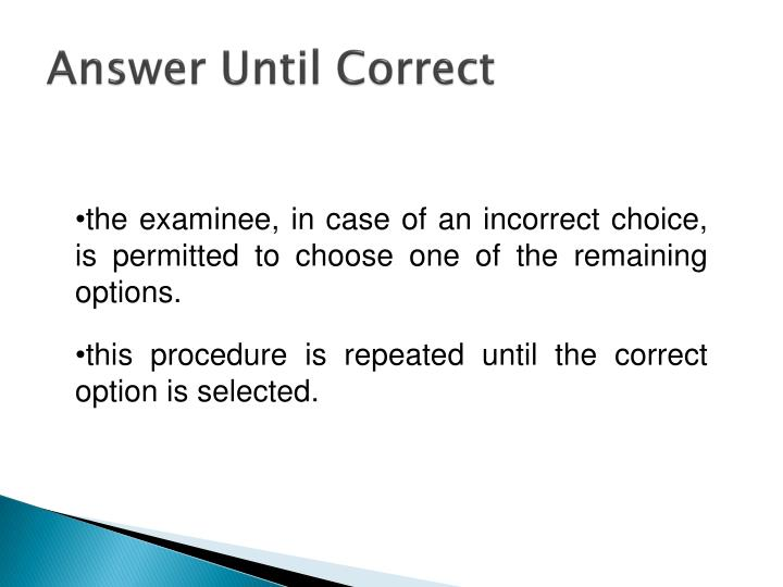 Answer Until Correct