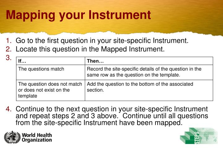 Mapping your Instrument