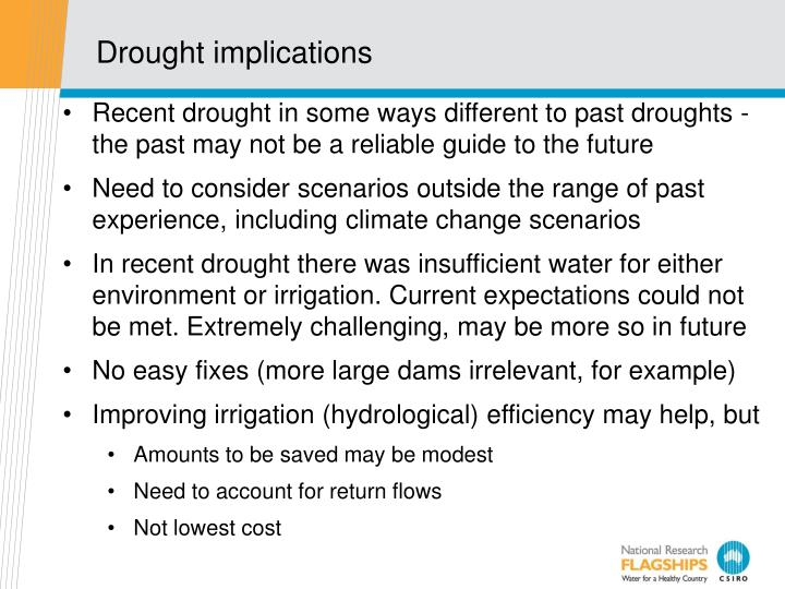 Drought implications