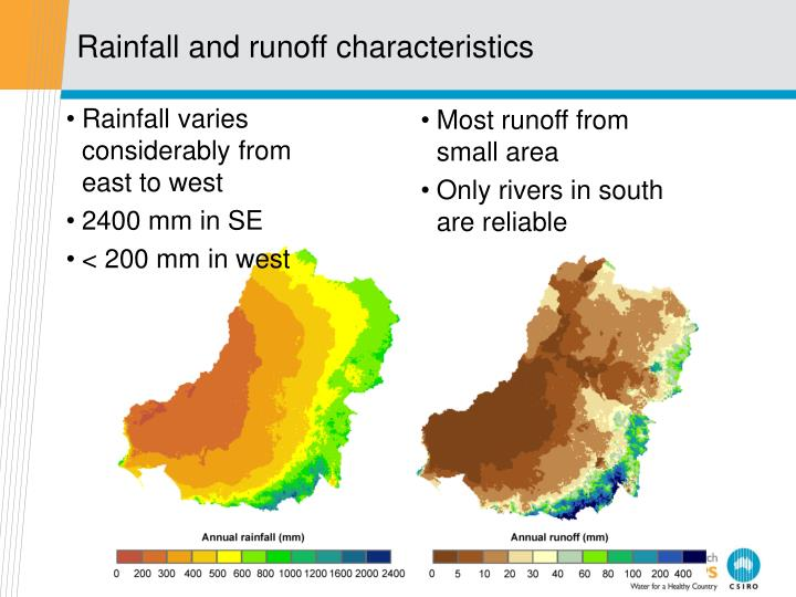 Rainfall varies considerably from east to west