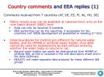 country comments and eea replies 1
