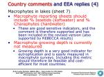country comments and eea replies 41