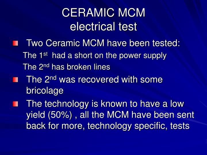 CERAMIC MCM