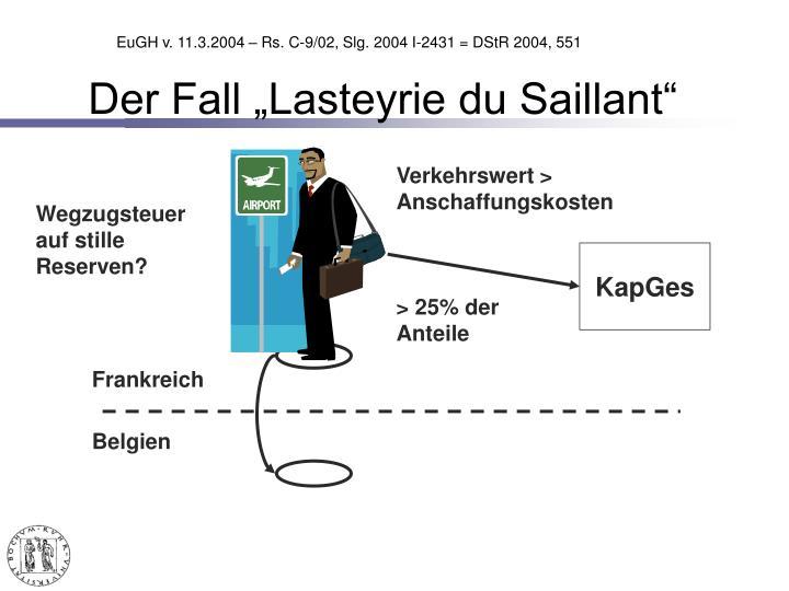 "Der Fall ""Lasteyrie du Saillant"""