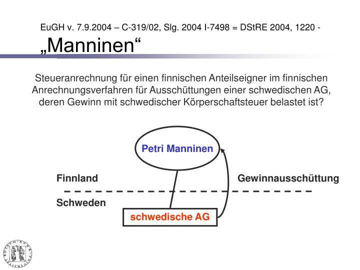 EuGH v. 7.9.2004 – C-319/02, Slg. 2004 I-7498 = DStRE 2004, 1220 -