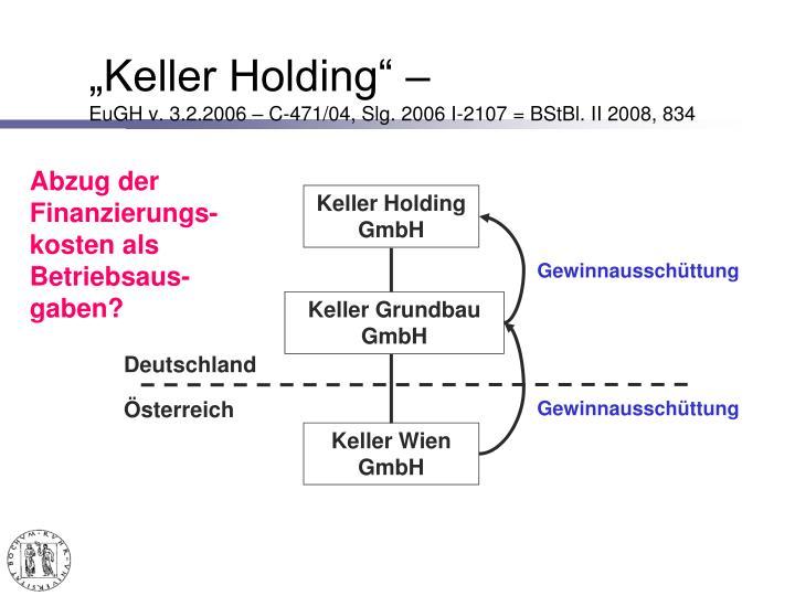"""""""Keller Holding"""" –"""