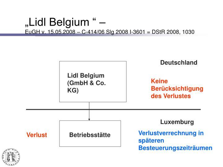"""""""Lidl Belgium """" –"""