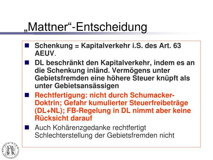 """Mattner""-Entscheidung"