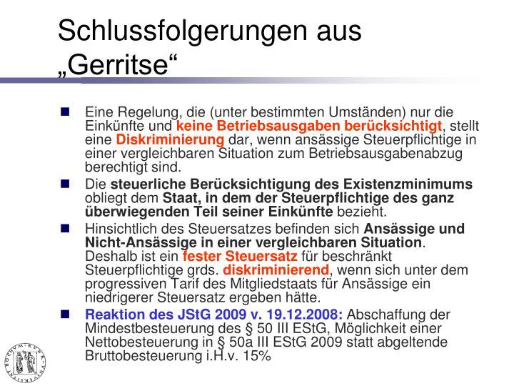 "Schlussfolgerungen aus ""Gerritse"""