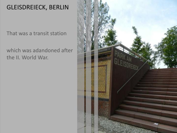 GLEISDREIECK, BERLIN