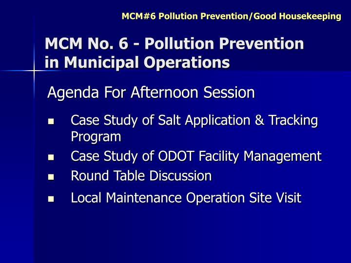 MCM No. 6 - Pollution Prevention