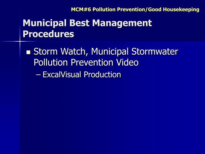 Municipal Best Management Procedures