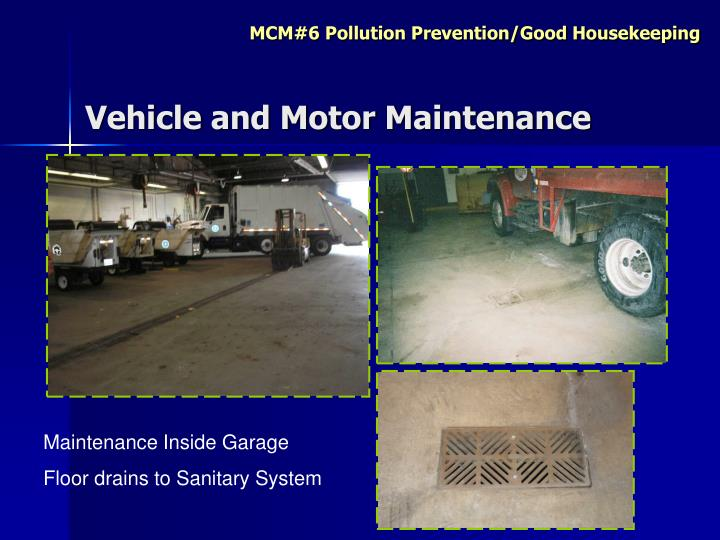 Vehicle and Motor Maintenance