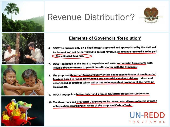 Revenue Distribution?