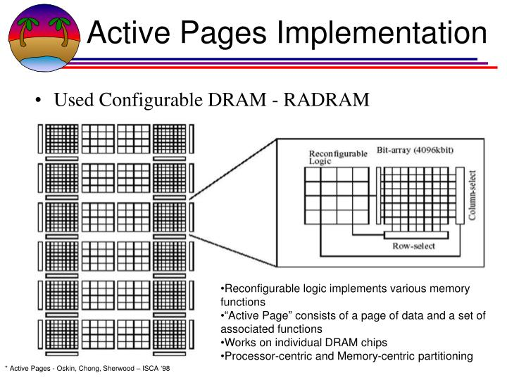 Active Pages Implementation