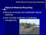 natural material recycling