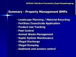 summary property management bmps
