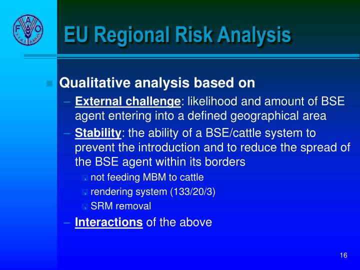EU Regional Risk Analysis