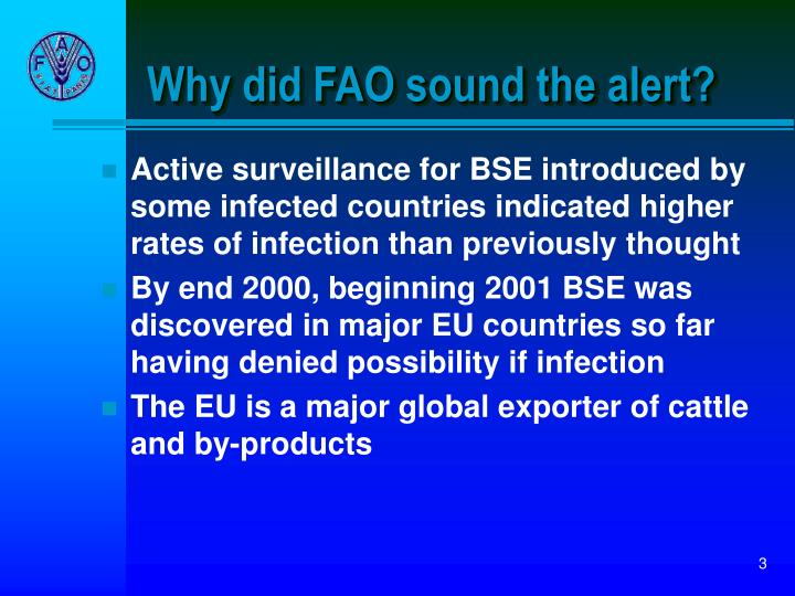 Why did fao sound the alert