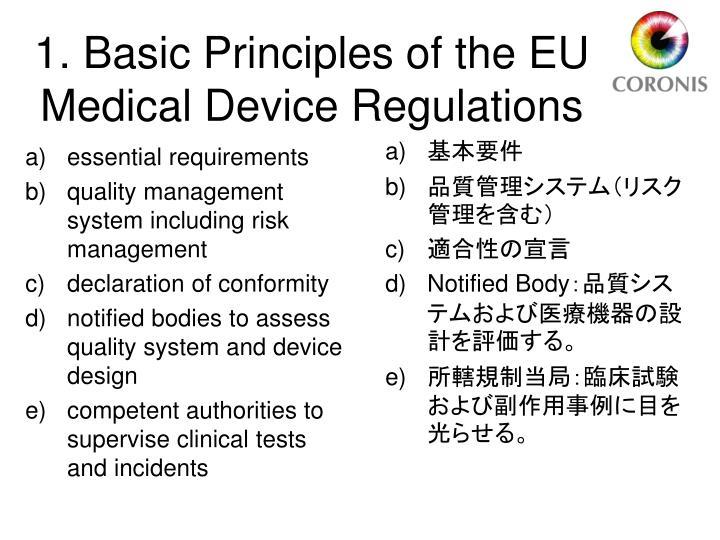 1 basic principles of the eu medical device regulations