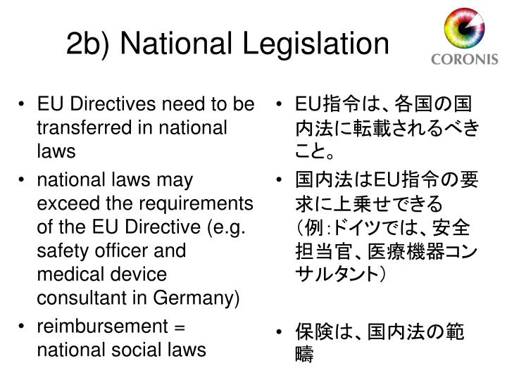 EU Directives need to be transferred in national laws