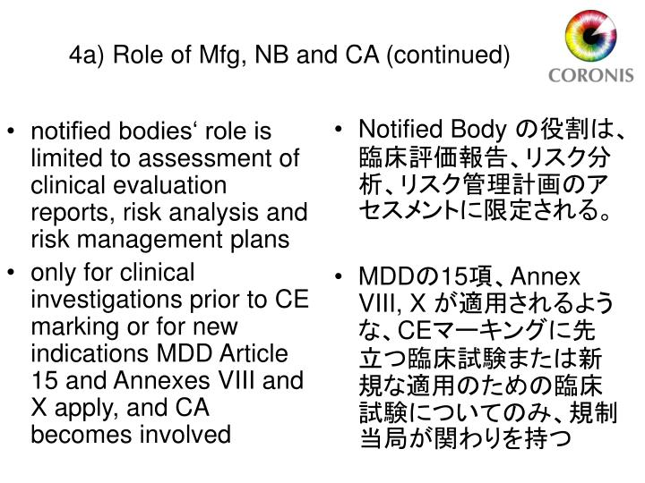 notified bodies' role is limited to assessment of clinical evaluation reports, risk analysis and risk management plans
