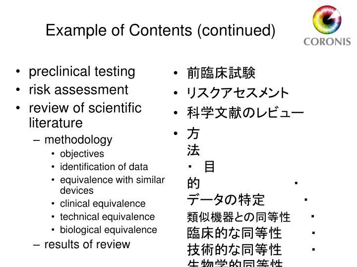 preclinical testing