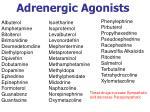 adrenergic agonists