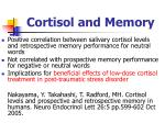 cortisol and memory