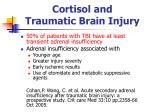 cortisol and traumatic brain injury