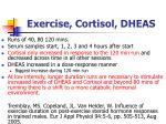 exercise cortisol dheas